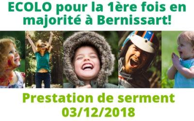 [03/12/2018] Conseil communal Bernissart: Prestation de serment