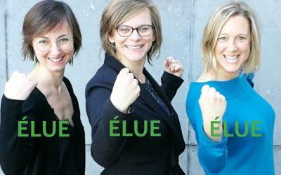 Les trois nouvelles parlementaires ECOLO de Wallonie picarde!