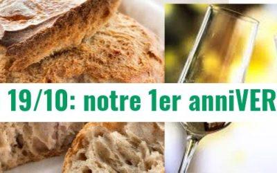 [19/10/2019] Fabriquer son pain et notre 1er anniVERTsaire!